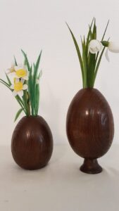 vase håndlavet træ